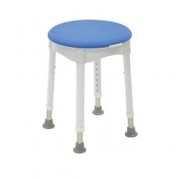 Disque pivotant avec revêtement d'assise, bleu, pour tabouret de douche Redondo