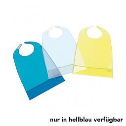 Tablier bavoir en PVC bleu clair
