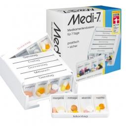 Pilulier semainier Medi 7 à compartiments séparés