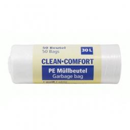Clean Comfort PE Müllbeutel, 30 L, 500x 600 mm, 50 Beutel