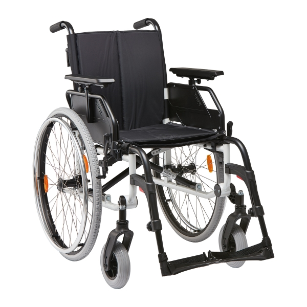 fauteuil roulant l ger et pliable caneo s avec frein pour accompagnateur fauteuils roulants. Black Bedroom Furniture Sets. Home Design Ideas