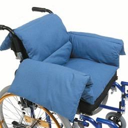 Thermo-Rollstuhlkissen blau